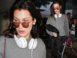 LOS ANGELES, CA - DECEMBER 17: Bella Hadid is seen at LAX on December 17, 2015 in Los Angeles, California.  (Photo by GVK/Bauer-Griffin/GC Images)