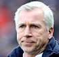 """Crystal Palace manager Alan Pardew watches on from the touch line during the Barclays Premier League match between Leicester City and Crystal Palace at the King Power Stadium on February 7, 2015 in Leicester, England.    LEICESTER, ENGLAND - FEBRUARY 07: (Photo by Plumb Images/Leicester City FC via Getty Images)  """"Please note this image forms part of the Getty Premium Access agreement and may incur an additional fee. If reused it must be downloaded from the Getty site"""""""