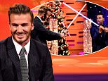 David Beckham during the filming of the Graham Norton Show at The London Studios, south London, to be aired on BBC One on Friday evening. PRESS ASSOCIATION Photo. Picture date: Thursday December 17 2015. Photo credit should read: PA Images on behalf of So TV
