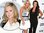 Mandatory Credit: Photo by Gregory Pace/BEI/BEI/Shutterstock (3753536af).. Kim Richards and Kyle Richards.. NBC Universal Upfront, New York. America - 15 May 2014.. ..