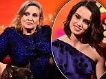 Daisy Ridley during the filming of the Graham Norton Show at The London Studios, south London, to be aired on BBC One on Friday evening. PRESS ASSOCIATION Photo. Picture date: Thursday December 17 2015. Photo credit should read: PA Images on behalf of So TV