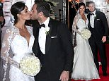 EDS NOTE ALTERNATIVE CROP\nChristine Bleakley and Frank Lampard leave after their wedding at St Paul's Church in Knightsbridge, London. PRESS ASSOCIATION Photo. Picture date: Sunday December 20, 2015. See PA story SHOWBIZ Lampard. Photo credit should read: Jonathan Brady/PA Wire