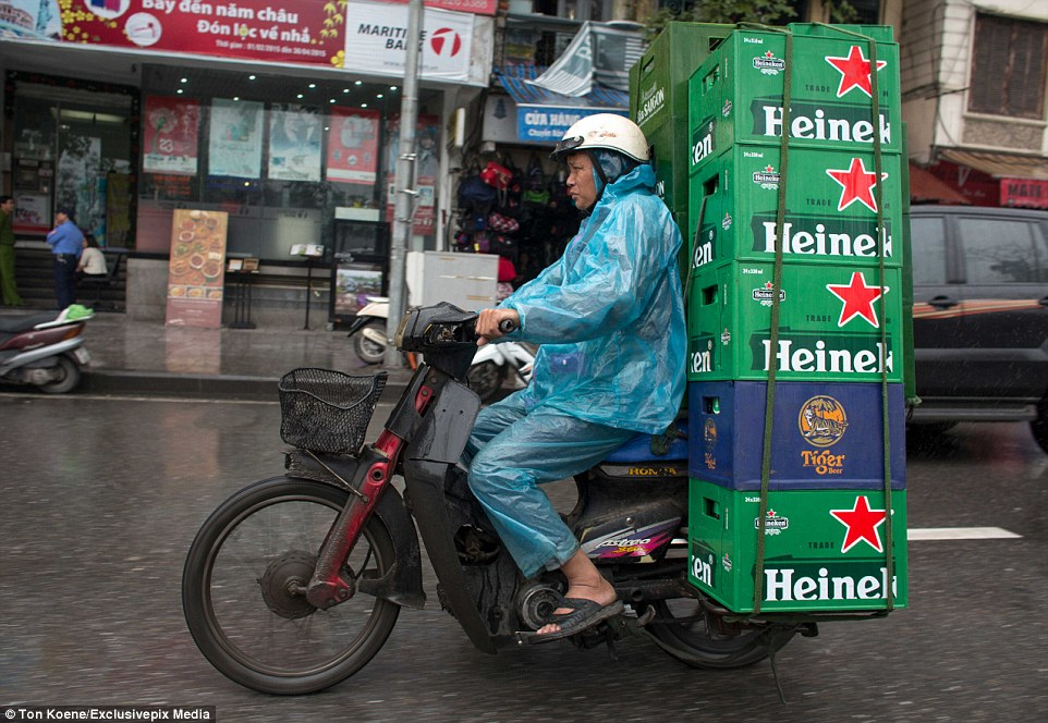 Motorbikes are the cheapest mode of transport in Vietnam and very useful for navigating crowded and narrow streets