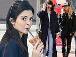 December 19, 2015: Kendall Jenner and Hailey Baldwin get lunch in Westwood and after that make their way to Malibu to get some more shopping done.\n \nMandatory Credit: Sasha Lazic/INFphoto.com\nRef.: infusla-257\n