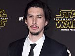 """Adam Driver arrives at the world premiere of """"Star Wars: The Force Awakens"""" at the TCL Chinese Theatre on Monday, Dec. 14, 2015, in Los Angeles. Driver plays the role of Kylo Ren in the film.  (Photo by Jordan Strauss/Invision/AP)"""