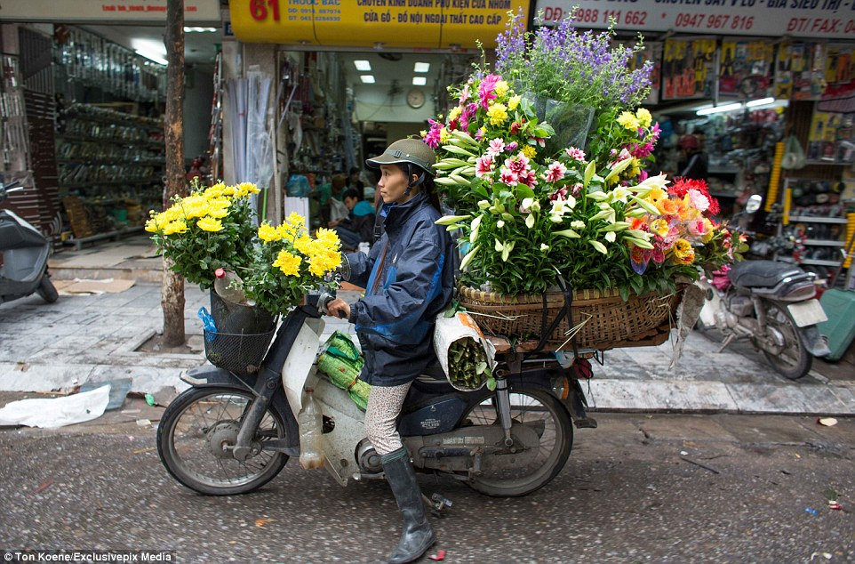 Getting around on two wheels is a way of life in Vietnam where there are more than 37 million motorbikes (and only a few million cars)