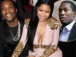 LOS ANGELES, CA - NOVEMBER 22:  Recording artists Meek Mill (L) and Nicki Minaj attend the 2015 American Music Awards at Microsoft Theater on November 22, 2015 in Los Angeles, California.  (Photo by Jeff Kravitz/AMA2015/FilmMagic)