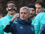 Football Soccer - Chelsea Training - Chelsea Training Ground - 8/12/15  Chelsea manager Jose Mourinho and assistant coach Rui Faria during training  Action Images via Reuters / Matthew Childs  Livepic  EDITORIAL USE ONLY.