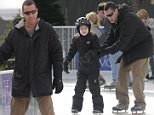 Picture Shows: Sunny Sandler, Adam Sandler  December 20, 2015\n \n Actor Adam Sandler and his wife Jackie take their daughters Sadie and Sunny ice skating in Santa Monica, California. \n \n Adam made sure that his daughters wore helmets in case they fell they wouldn't get hurt. \n \n Exclusive - All Round\n UK Rights Only\n \n Pictures by : FameFlynet UK © 2015\n Tel : +44 (0)20 3551 5049\n Email : info@fameflynet.uk.com