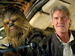 "Film, 'Star Wars: The Force Awakens', (2015) This image released by Lucasfilm shows character Chewbacca, left, and Harrison Ford in a scene from ""Star Wars: The Force Awakens,"" the highly anticipated film by J.J. Abrams that hits theaters Dec. 18. (Lucasfilm via AP)"