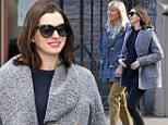 EXCLUSIVE: Anne Hathaway spotted holding her baby bump as she walks to lunch with her friends\n\nPictured: Anne Hathaway\nRef: SPL1199163  211215   EXCLUSIVE\nPicture by: Felipe Ramales / Splash News\n\nSplash News and Pictures\nLos Angeles: 310-821-2666\nNew York: 212-619-2666\nLondon: 870-934-2666\nphotodesk@splashnews.com\n