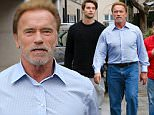 Beverly Hills, CA - Arnold Schwarzenegger and his son Patrick go shopping for the holidays and meet up with Maria Shriver for some food afterwards. \n  \nAKM-GSI       December 22, 2015\nTo License These Photos, Please Contact :\nSteve Ginsburg\n(310) 505-8447\n(323) 423-9397\nsteve@akmgsi.com\nsales@akmgsi.com\nor\nMaria Buda\n(917) 242-1505\nmbuda@akmgsi.com\nginsburgspalyinc@gmail.com