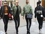Kendall Jenner and Gigi Hadid go Christmas shopping in Los Angeles, CA. The two models and friends are seen doing some rainy day shopping just days before the Christmas holiday. \n\nPictured: Kendall Jenner, Gigi Hadid\nRef: SPL1199792  221215  \nPicture by: Aficionado Group  / Splash News\n\nSplash News and Pictures\nLos Angeles: 310-821-2666\nNew York: 212-619-2666\nLondon: 870-934-2666\nphotodesk@splashnews.com\n