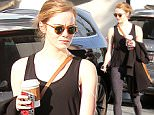 December 21, 2015: Emma Stone seen leaving the gym after a work out in Los Angeles, California. \nMandatory Credit: Fresh/ INFphoto.com Ref: infusla-283