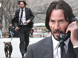 Picture Shows: Keanu Reeves  December 21, 2015\n \n A beat-up and bloody Keanu Reeves can be seen doing some intense running scenes with his canine co-star in Manhattan's Central Park for 'John Wick 2' in New York City, New York. \n \n Later he shot another scene where he could be seen exiting a train station and making a call from a public pay phone. Keanu is filming on the last day of the New York Unit as they get ready for the holidays and will continue with filming after New Years; when production will be moving the action to Italy. \n \n Non Exclusive\n UK RIGHTS ONLY\n \n Pictures by : FameFlynet UK © 2015\n Tel : +44 (0)20 3551 5049\n Email : info@fameflynet.uk.com