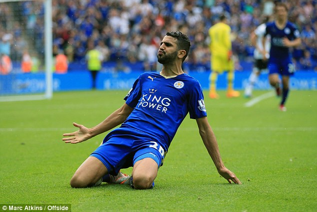Leicester's Riyad Mahrez is enjoying a fine run of form and starred for his side against Tottenham
