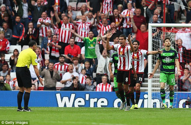 Unfortunately things didn't go so well for Neil Swarbrick who denied Sunderland a clear  penalty