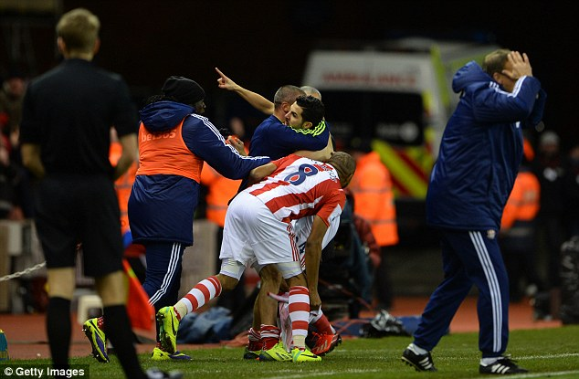 Maiden: The goal was Liverpool loanee Assaidi's first in the Premier League