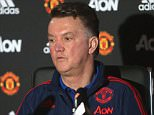 MANCHESTER, ENGLAND - DECEMBER 23:  (EXCLUSIVE COVERAGE)  Manager Louis van Gaal of Manchester United speaks during a press conference at Aon Training Complex on December 23, 2015 in Manchester, England.  (Photo by John Peters/Man Utd via Getty Images)