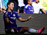 File photo dated 19-09-2015 of Chelsea's Eden Hazard PRESS ASSOCIATION Photo. Issue date: Thursday December 17, 2015. Mourinho rounds on star player Hazard after dropping him to the bench for the 2-0 win over Aston Villa and demands the Belgian improve his defensive work rate. See PA story SOCCER Chelsea Timeline. Photo credit should read Adam Davy/PA Wire.