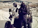 calvin harris instagram on a snow quad