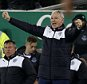 File photo dated 19-12-2015 of Leicester City manager Claudio Ranieri celebrates his team's victory over Everton PRESS ASSOCIATION Photo. Issue date: Sunday December 20, 2015. Leicester manager Claudio Ranieri admits his players are making his job easier as the Foxes' unexpected title challenge continues to gather momentum. See PA story SOCCER Leicester. Photo credit should read Peter Byrne/PA Wire.