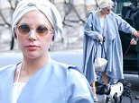 EXCLUSIVE: Lady Gaga flash a smile while she arrived at her apartment with her dog Asia all dressed up in New York City, the singer-actress spotted wearing diamond earrings when she was on her way out she was wearing different earrings going in the diamond store\n\nPictured: Lady Gaga\nRef: SPL1200809  251215   EXCLUSIVE\nPicture by: Felipe Ramales / Splash News\n\nSplash News and Pictures\nLos Angeles: 310-821-2666\nNew York: 212-619-2666\nLondon: 870-934-2666\nphotodesk@splashnews.com\n