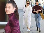Sisters Bella and Gigi Hadid go clothes shopping at Yves Saint Laurent Featuring: Bella Hadid, Gigi Hadid Where: Los Angeles, California, United States When: 23 Dec 2015 Credit: WENN.com