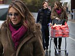 EXCLUSIVE ALL ROUNDER Elizabeth Hurley is seen stocking up on some last minute groceries with her son Damian\n22 December 2015.\nPlease byline: Vantagenews.com\nUK clients should be aware children's faces may need pixelating.