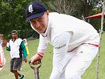 PIETERMARITZBURG, SOUTH AFRICA - DECEMBER 22:  Joe Root of England plants a tree after scoring a century, a honour given to any international batsman scoring 100 runs at the City Oval during day three of the tour match between South Africa A and England at City Oval on December 22, 2015 in Pietermaritzburg, South Africa.  (Photo by Julian Finney/Getty Images)