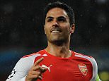 Mikel Arteta - Arsenal v Anderlecht - UEFA Champions League group stage   . REXMAILPIX.