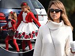 Picture Shows: Jessica Alba, Honor Warren  December 24, 2015    Actress Jessica Alba and her daughters Honor and Haven are spotted out doing some last minute Christmas shopping at Brentwood Country Mart in Brentwood, California on Christmas Eve.    Exclusive All Rounder  UK RIGHTS ONLY    Pictures by : FameFlynet UK © 2015  Tel : +44 (0)20 3551 5049  Email : info@fameflynet.uk.com