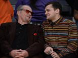 ©2015 GAMEPIKS 310-828-3445 Los Angeles, Ca Jack Nicholson and son Raymond watch on as the Los Angeles Lakers are at the Staples Center to watch the Lakers lose to the Oklahoma City Thunder 120-85. 122315 GAMEPIKS