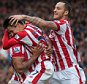 Dec 26th  2015 - Stoke, UK - STOKE V MAN UTD - Stoke Bjan goal against Man Utd  PIcture by Ian Hodgson/Daily Mail