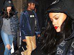 23.DEC.2015 - HOLLYWOOD - CA., USA\n*EXCLUSIVE ALL ROUND PICTURES - STRICTLY AVAILABLE FOR UK AND GERMANY USE ONLY*\nRihanna and Travis Scott were out partying at Project LA both looking casual in jeans and sneakers. Travis was seen wearing Kanye West's Yeezy Adidas 350 sneaker.\nBYLINE MUST READ : XPOSUREPHOTOS.COM\n***UK CLIENTS - PICTURES CONTAINING CHILDREN PLEASE PIXELATE FACE PRIOR TO PUBLICATION ***\n*UK CLIENTS MUST CALL PRIOR TO TV OR ONLINE USAGE PLEASE TELEPHONE 0208 344 2007*