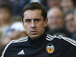VALENCIA, SPAIN - DECEMBER 19:  Gary Neville (L) manager of Valencia looks on during the La Liga match between Valencia CF and Getafe CF at Estadi de Mestalla on December 19, 2015 in Valencia, Spain.  (Photo by Manuel Queimadelos Alonso/Getty Images)