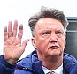 Manchester United manager Louis van Gaal waves goodbye to the United fans at full time during the Barclays Premier League match between Stoke City and Manchester United played at The Britannia Stadium, Stoke-on-Trent on 26th December 2015
