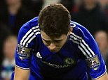 16 December 2015 - Barclays Premier League - Chelsea v Watford - Oscar of Chelsea reacts after slipping and missing a penalty - Photo: Marc Atkins / Offside.