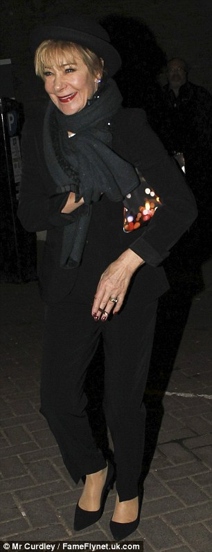 She's got her own style: Actress Zoe Wanamaker looked trendy in a black bowler hat