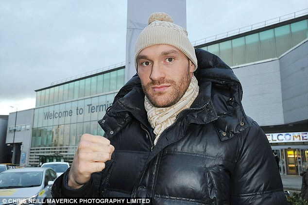 English boxer was in high spirits as he prepares for heavyweight title bout with Wladimir Klitschko