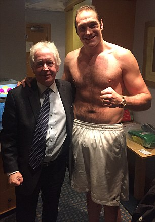 The 27-year-old with Sportsmail's Jeff Powell (right)