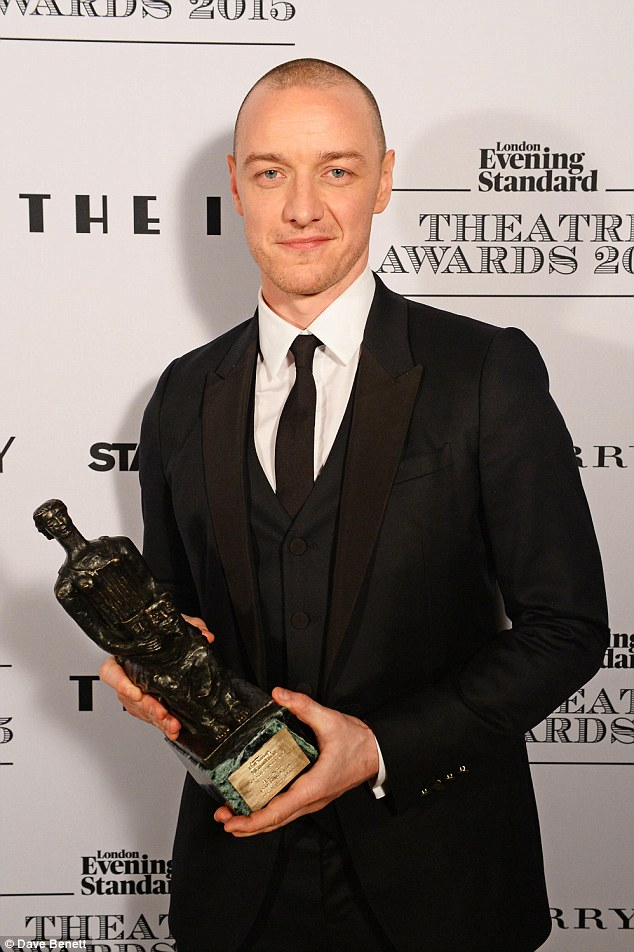 Boy power: Acclaimed actor McAvoy was named Best Actor for his role in The Ruling Class