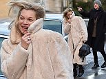 Mandatory Credit: Photo by Joan Wakeham/REX/Shutterstock (5502015j)  Kate Moss and Jefferson Hack  Kate Moss out and about in the Cotswolds, Britain - 24 Dec 2015