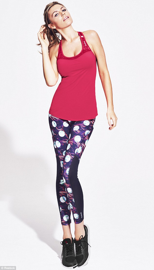 Abbey Clancy is a celebrity power-leggings convert, seen here as the face of Reebok's 2015 collection