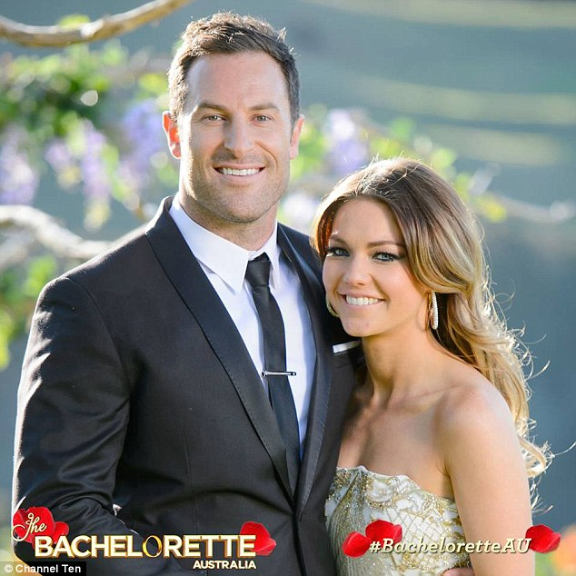 Cute couple: The pair met on Channel Ten's The Bachelorette earlier this year