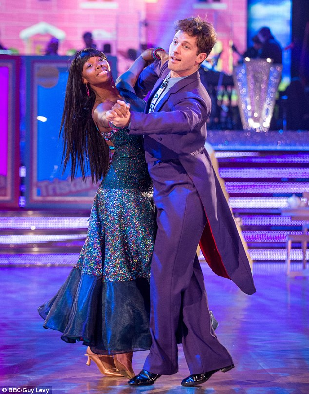 Queen of the dance off: Jamelia and her partner Tristan MacManus leave Strictly Come Dancing following the dance-off on Sunday's episode