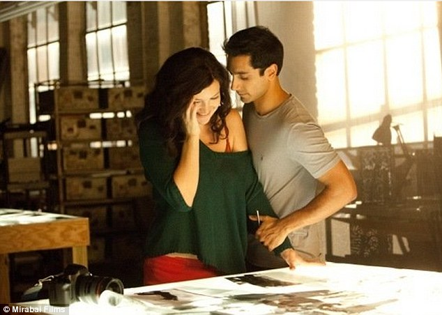 Thrilling film: Kate appears as a brunette in the The Reluctant Fundamentalist out in May
