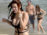 27 December 2015.\nDecember 27, 2015 - Saint Barthelemy, FRANCE - Revenge's actress Elena Satine and boyfriend Tyson Ritter enjoy a beach day in the famous Island of Saint Barts.\nCredit: GoffPhotos.com   Ref: KGC-149/032735\n**UK Sales Only**