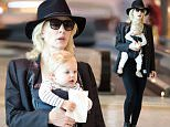 Cate Blanchett with husband Andrew and children Roman, Dashiell, Ignatius and daughter Edith leaving for America (only baby + Cate pictured)\n