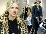 27 Dec 2015 - NEW YORK - USA  *** EXCLUSIVE PICTURES ***  ASHLEE SIMPSON WITH EVAN ROSS AND THEIR KIDS BRONX AND JAGGER ARRIVE AT JFK AIRPORT IN NYC.   BYLINE MUST READ : XPOSUREPHOTOS.COM  ***UK CLIENTS - PICTURES CONTAINING CHILDREN PLEASE PIXELATE FACE PRIOR TO PUBLICATION ***  **UK CLIENTS MUST CALL PRIOR TO TV OR ONLINE USAGE PLEASE TELEPHONE  44 208 344 2007**